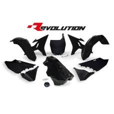 YZ 125 250 16 Black Tank Conversion kit 02-14 Black-Plastics Kit Restyle-Black