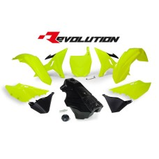 YZ 125 250 16 Black Tank Conversion kit 02-14-Neon-Yellow Plastics Kit Restyl