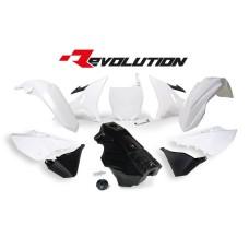 YZ 125 250 16 Black Tank Conversion kit 02-14 Bike Plastics Kit Restyle white