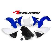 YZ 125 250 16 Black Tank Conversion kit 02-14-Blue-White Plastics Kit Restyle