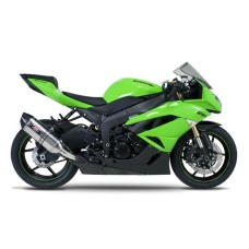 AKRAPOVIC CARBON SILENCER COMPLETE STAINLESS 4-2-1 SYSTEMRACE REMOVABLE BAFFLE KAWASAKI ZX-636
