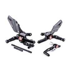 Gilles MUE2 Adjustable Rearset KitI-Black - (Supplied With Folding Footpegs) CBR1000RR-20017-2019